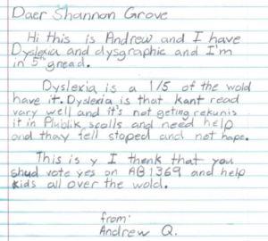 Andrew Handwriting